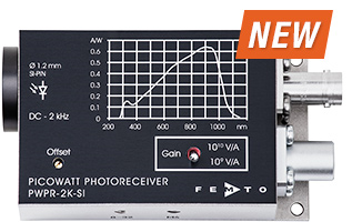 PWPR-2K Picowatt Photoreceiver With Switchable Gain